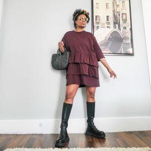 Combination Sweatshirt Dress, Large